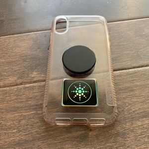 Tech21 IPhone XR Case Clear with Popsocket